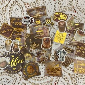 23 coffee stickers